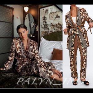 ❤️❤️ZARA 2 piece CONTRASTING PRINTED BLAZER&PANTS